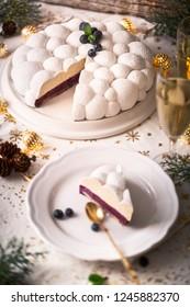 "Christmas Cake Or French Christmas Cake call ""Bûche de Noël"" in France"