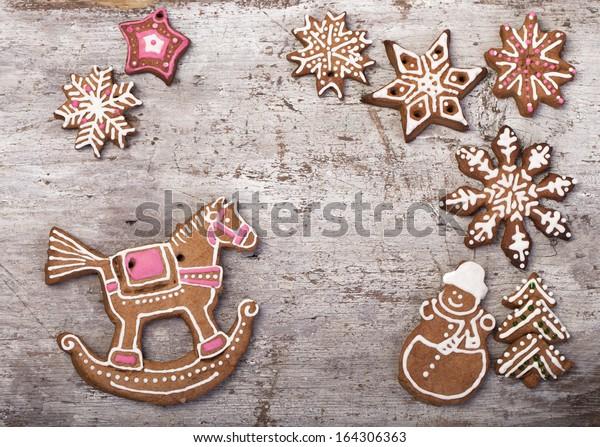 Christmas Cake Shape Horse Santas Sleigh Stock Photo Edit Now