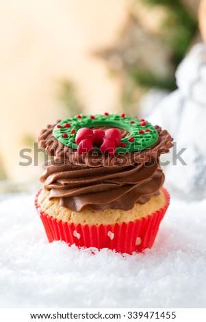 Christmas Cakes Decorated Fondant Stockfoto Jetzt Bearbeiten