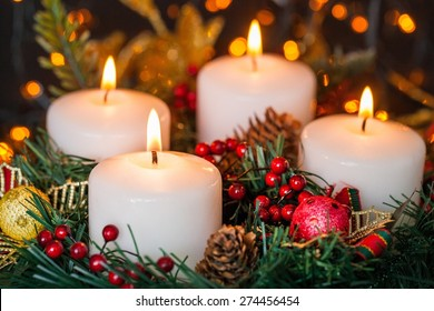 Christmas, Candle, Advent.
