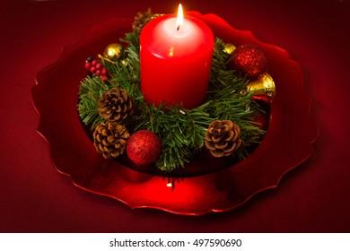 Christmas candle Christmas tree concept