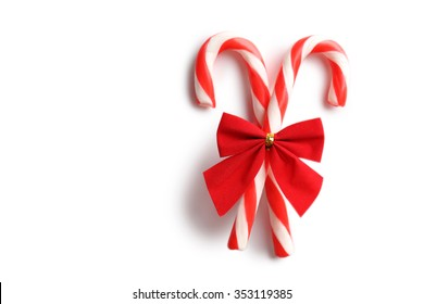 Christmas candy can isolated on a white