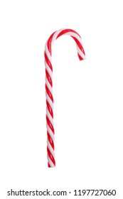 christmas candy cane isolated on white background with clipping path included
