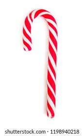 Christmas Candy cane isolated on white Background  for greeting card on Christmas and New Year. Close up