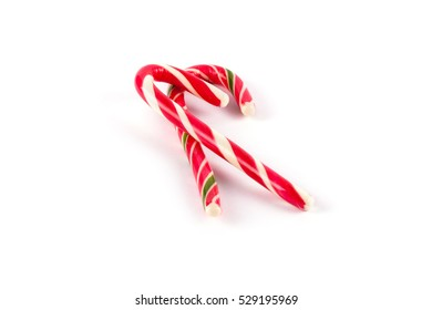 Christmas candy isolated on white background. Christmas sweet