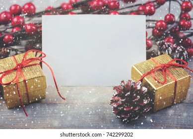 Christmas card, background christmas ornaments