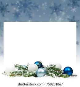 Christmas Card Background or Christmas Theme Background with space for text. Selective focus.