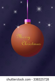 Christmas card with a bright scarf on a dark background