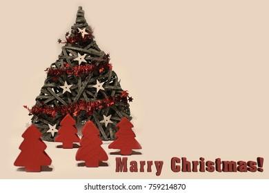 Christmas card dekoration