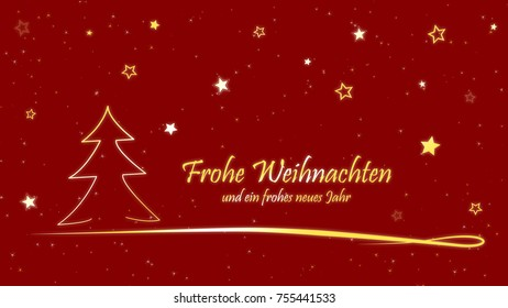 Christmas Card Frohe Weihnachten und ein frohes neues Jahr - Merry Christmas and a happy new Year