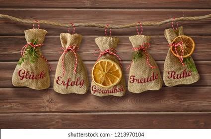 christmas card christmas greetings advent jute bag