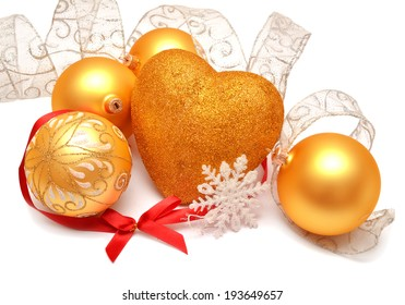 Christmas card isolated on white background