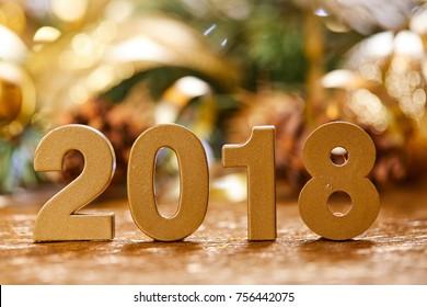 Christmas card. New 2018 Year.