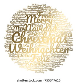 christmas card with words