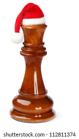 Christmas chess king isolated on white