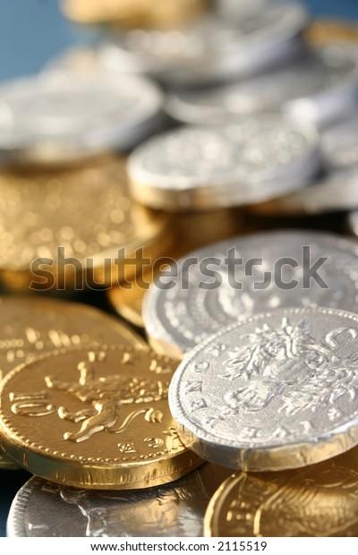 christmas chocolate coins