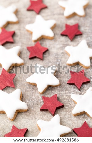 Christmas Cinnamonflavoured Starshaped Biscuits Stock Photo Edit