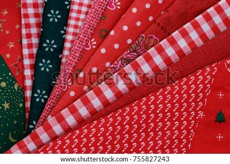 christmas cloth napkins folded stack like a fan christmas background for christmas time - Christmas Napkins Cloth