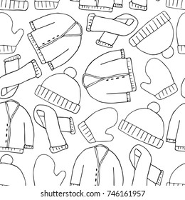 Christmas clothing illustration. Doodle style. Design, print, logo, decor, textile, paper.