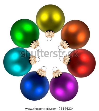 Christmas Color Wheel Decorations On White Stock Photo Edit Now