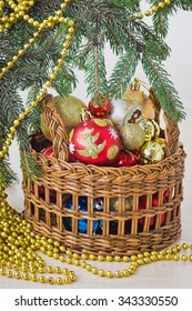 Christmas composition and decoration. Selective focus
