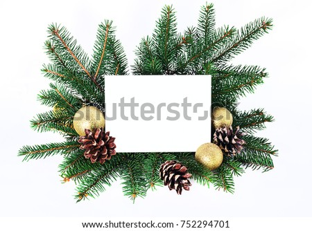 christmas composition christmas invitation card holiday stock photo