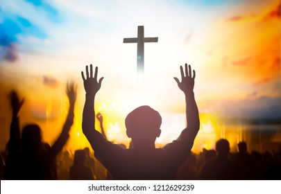 Crowd People Worshipping Images, Stock Photos & Vectors | Shutterstock