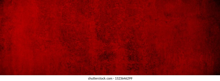 Christmas concrete texture in uniformly warm red as background banner in XXXL