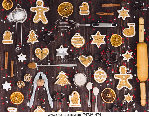 Christmas Cookie Tree Made Star Cookie Stock Photo Edit Now 747391474