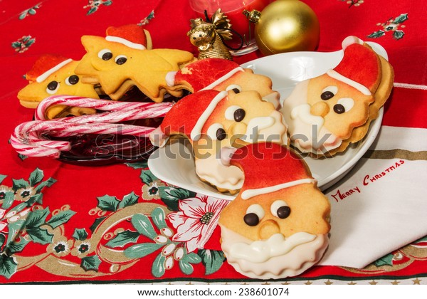 Christmas Cookies Biscuits Shape Santa Claus Stock Photo Edit Now