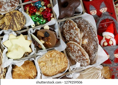 Christmas Cookies, Felt Ornaments and Christmas Angel Closeup
