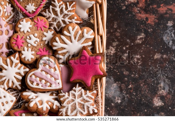 Christmas Cookies Shape Snowflake Heart Star Stock Photo Edit Now
