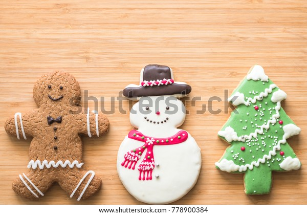 Christmas Cookies Snowman Xmas Tree Gingerbread Stock Photo Edit