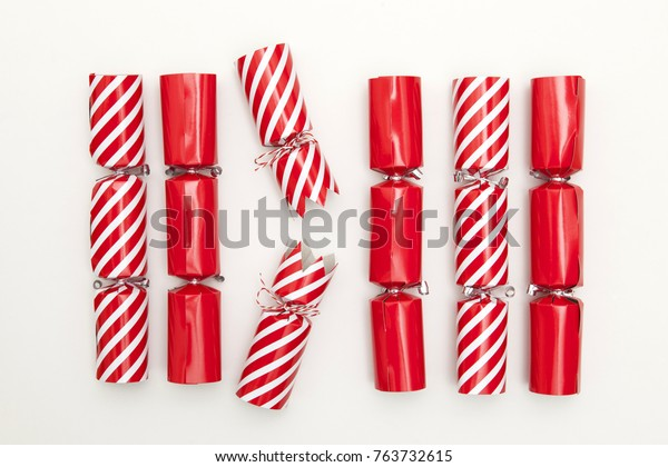 Christmas crackers on a white background crackers