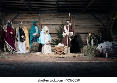 Christmas crib in central Poland.