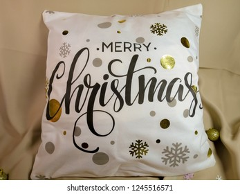 Christmas cushion with flakes
