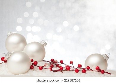 Christmas decoration against beautiful background. Useful as a christmas card.