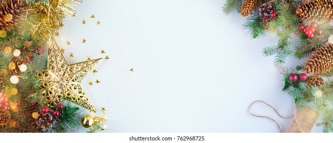 Christmas decoration. Christmas decoration background; Christmas tree and holidays ornament