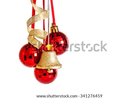 Christmas Decoration Balls Jingle Bell Ribbons Stock Photo Edit Now Fascinating Decorative Jingle Bells