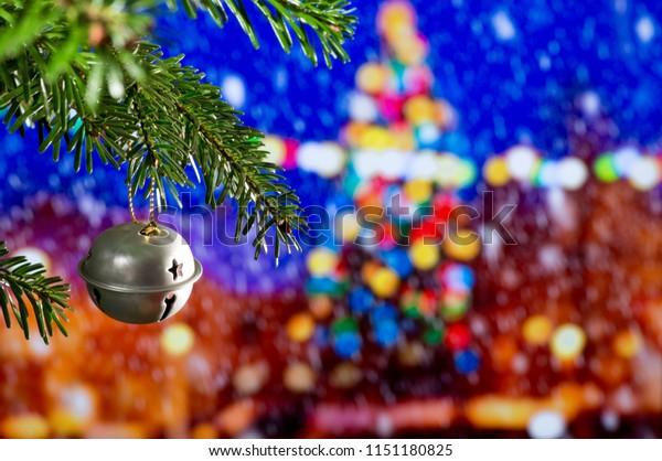 Christmas Decoration with Christmas Bell on the Christmas Tree