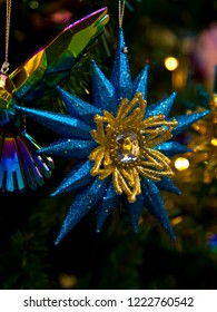 Christmas decoration: blue star