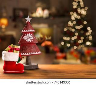 christmas decoration. Christmas Blurry background.