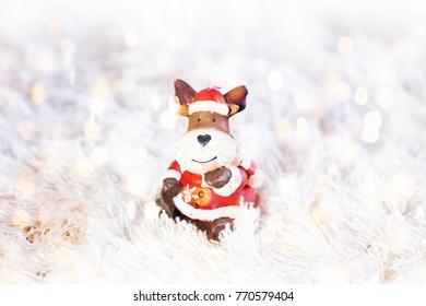 Christmas decoration bokeh background