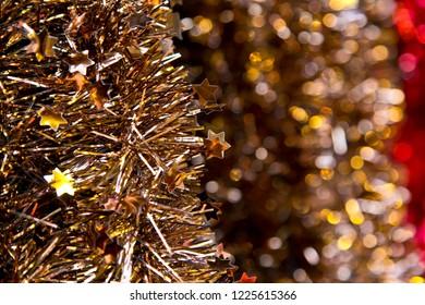 Christmas decoration: bronze garlands