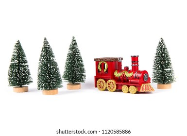 Christmas decoration, a chimney and a Christmas tree