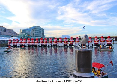 Christmas decoration in Darling harbor, Sydney, New South Wales, Australia