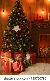 Christmas decoration and a fir-tree. It can be used as a background