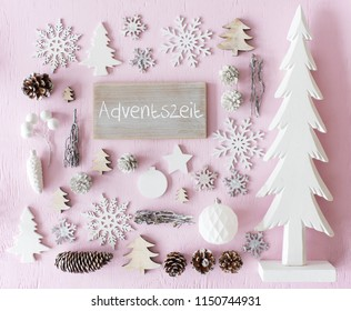 Christmas Decoration, Flat Lay, Adventszeit Means Advent Season