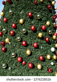Christmas decoration flower branches of Christmas ornaments
