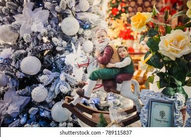 Christmas decoration with hobbyhorse